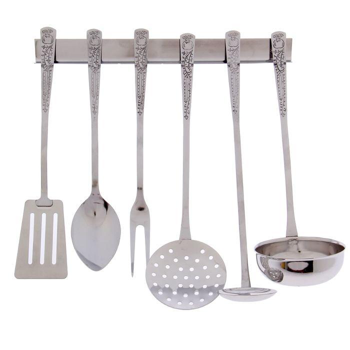 Набор кухонных принадлежностей, 6 предметов, на подвесе