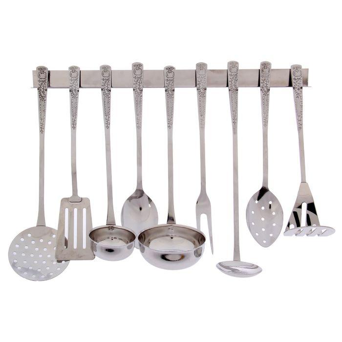 Набор кухонных принадлежностей, 9 предметов, на подвесе