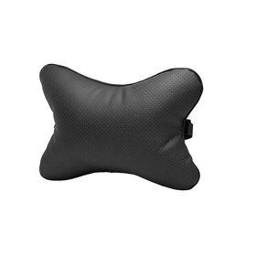 Подушка автомобильная, для шеи, перфорированная, чёрная