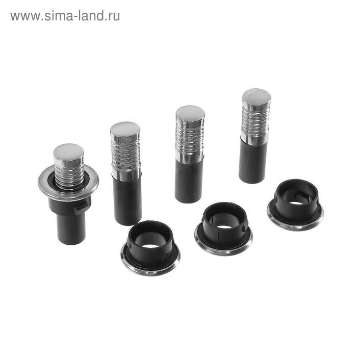 """Кнопка-фиксатор двери """"ГЛАВДОР"""" для ВАЗ 2110-15, нержавеющая сталь, набор 4 шт."""
