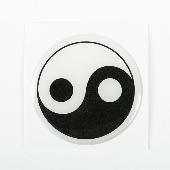 """Наклейка на колесный диск """"ГЛАВДОР"""" Инь Ян, 58 мм, набор 4 шт."""