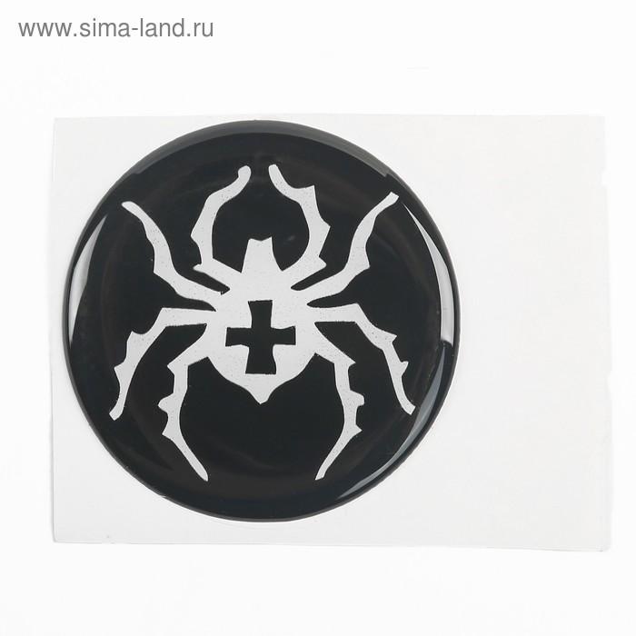 """Наклейка на колесный диск """"ГЛАВДОР"""" Паук, 58 мм, набор 4 шт."""