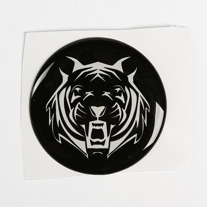 """Наклейка на колесный диск """"ГЛАВДОР"""" Тигр, 58 мм, набор 4 шт."""