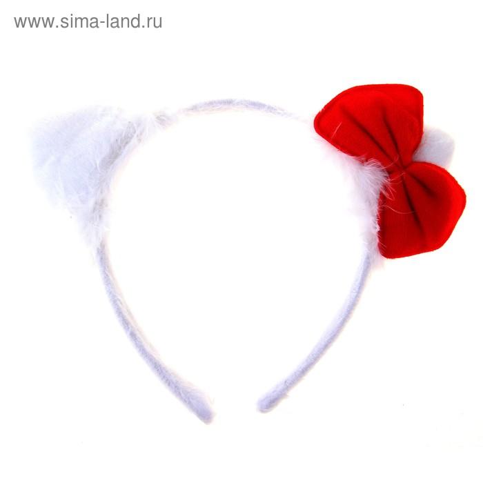 """Карнавальный ободок """"Киска"""" с бантиком, 14х18 см"""