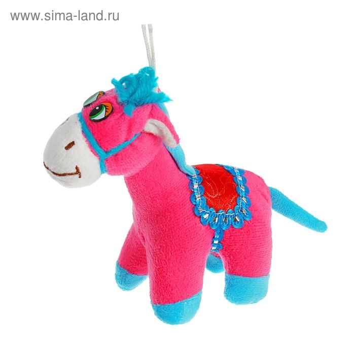 """Мягкая игрушка на присоске """"Лошадь с седлом"""", цвета Микс"""