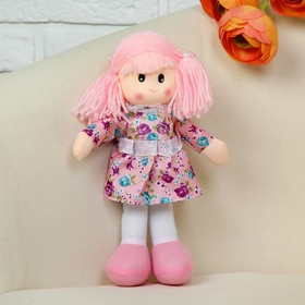 Мягкая игрушка «Кукла», в платье с цветочками, цвета МИКС
