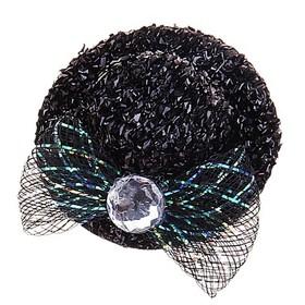 Карнавальный зажим «Шляпка Мисс», блестящая, набор 12 шт., цвета МИКС