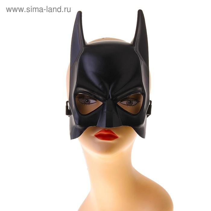Карнавальная маска пластик черная