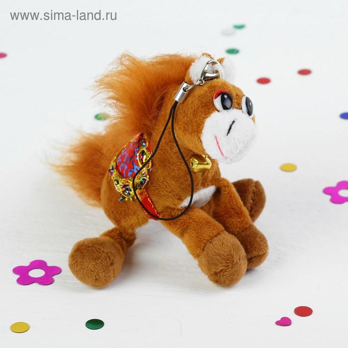 """Мягкая игрушка - подвеска """"Лошадь"""", на шее колокольчик, цвета МИКС"""