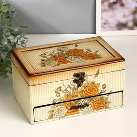 Jewelry box wood with drawer Vesna 15,5x23x12,5 cm