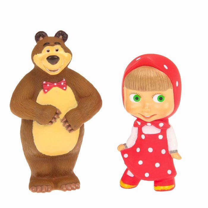 """Игрушка для ванной """"Маша и Медведь"""", в сетке"""