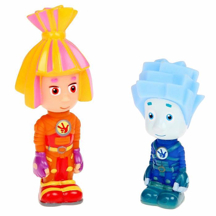 Игрушка для ванной «Фиксики: Нолик и Симка», в сетке - фото 557317