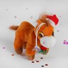 """Мягкая игрушка-присоска """"Лошадь в шапке с шарфом"""" цвета МИКС"""