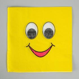 Салфетки бумажные 'Улыбочка' (набор 20 шт) 33*33 см Ош