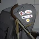 Наклейки светоотражающие на коляску «Наш малыш» (набор)