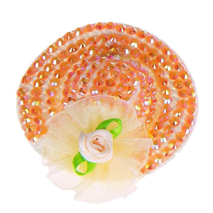 Карнавальный зажим шляпка с розой, цвета МИКС