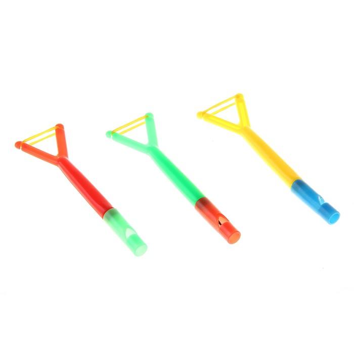 Свисток 3 в 1 ( свисток+карандаш+рогатка), цвета МИКС