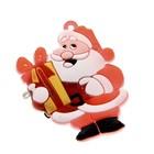 """Значок световой """"Дед Мороз с подарком"""""""