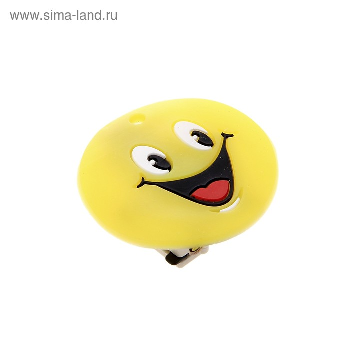 """Карнавальный значок световой """"Смайл"""" широкая улыбка"""