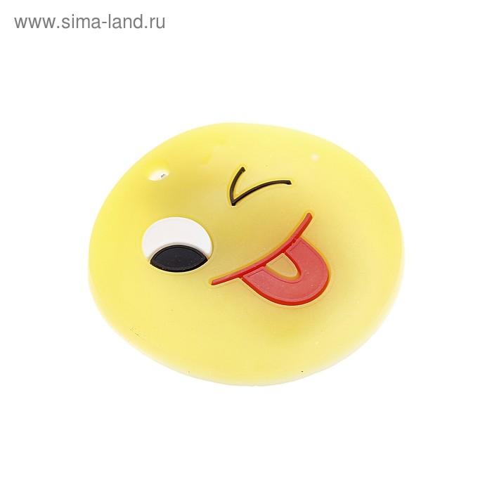 """Карнавальный значок световой """"Смайл"""" подмигивает"""