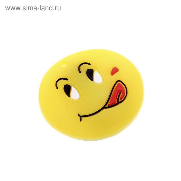"""Карнавальный значок световой """"Улыбка смайлика"""""""