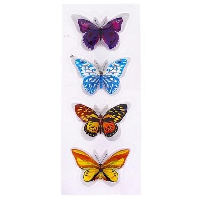 """Карнавальный значок-наклейка световой """"Ночная бабочка"""", набор 4 шт, цвета МИКС"""