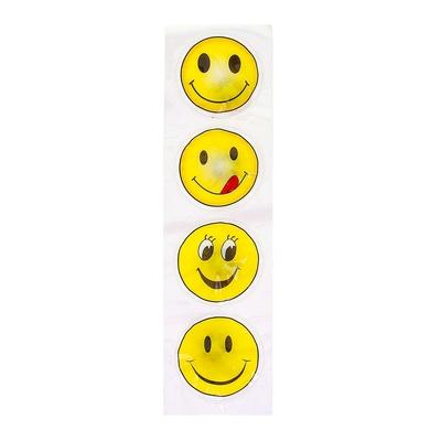 """Карнавальный значок-наклейка световой """"Смайл"""", разные виды, набор 4 шт."""