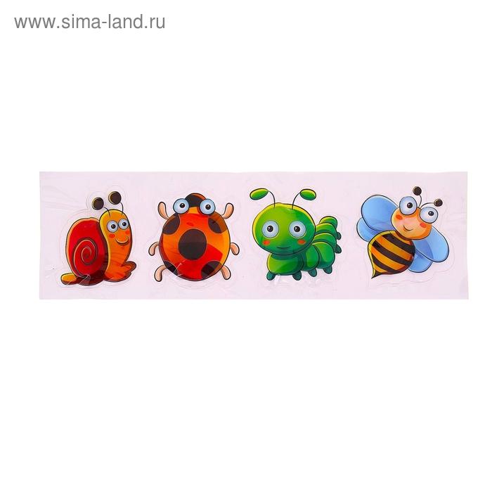 """Карнавальный значок- наклейка световой """"Насекомые"""", разные виды, набор 4 шт"""