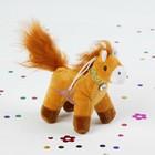 """Мягкая игрушка-присоска """"Лошадь"""" тесьма с камнем цвета МИКС"""