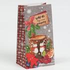 Пакет подарочный без ручек «Кому‒то ну очень хорошему», 10 × 19,5 × 7 см