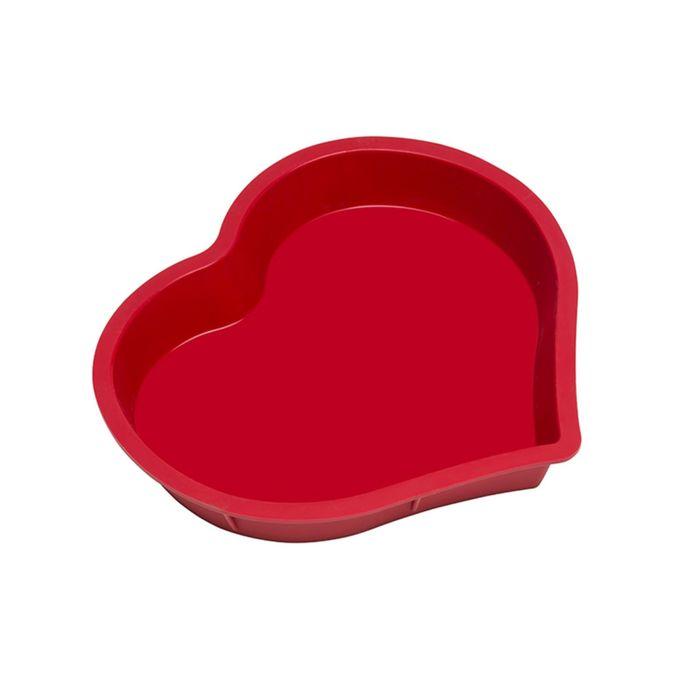 Набор форм для выпечки Oursson, BW2600S/RR, сердце, красное
