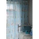 """Тюль """"Этель"""" 135х270 см Весёлый зайчик (голубой) без утяжелителя, 100% п/э - фото 105553945"""