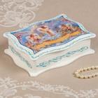 Шкатулка «Ангелочки», белая, 13х18 см, лаковая миниатюра