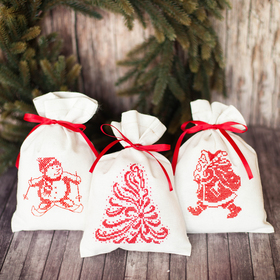 "Bags for gifts, ""winter tale"", a sewing kit, 16,3 × 10,7 × 2.5 cm"