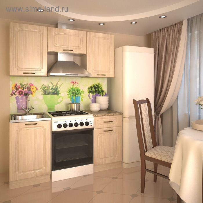 Кухонный гарнитур, грецкий орех 6, 1600 мм