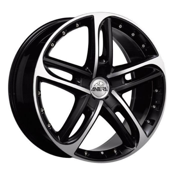 Диск ANTERA 501 8,5x19 5x114,3 ET32 d75 Racing Black Front Polished (501 859 B07)