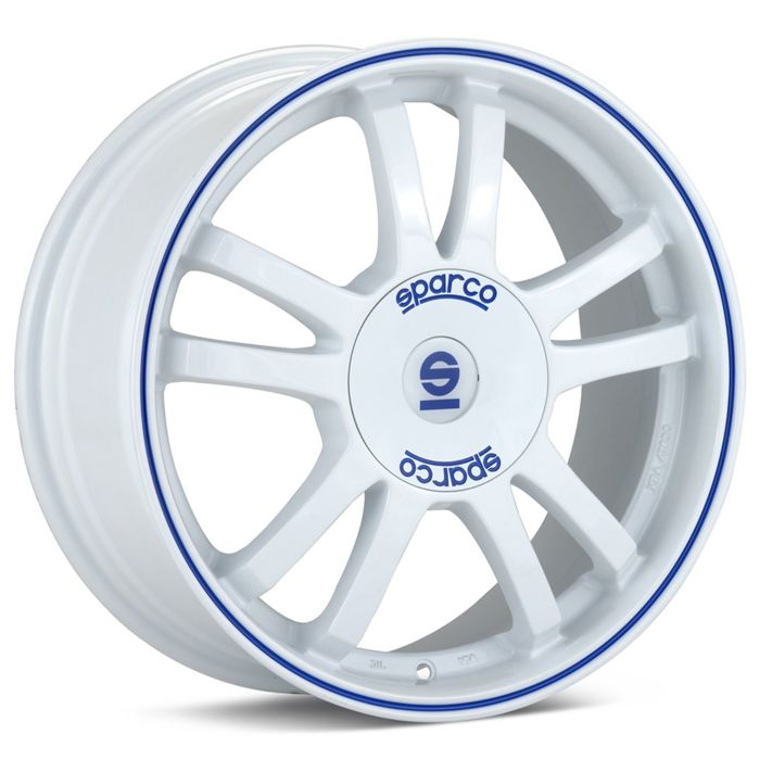 Диск SPARCO Rally 7,0x17 4x108 ET25 d73,1 White Blue Lip (W2901055029) dPLY