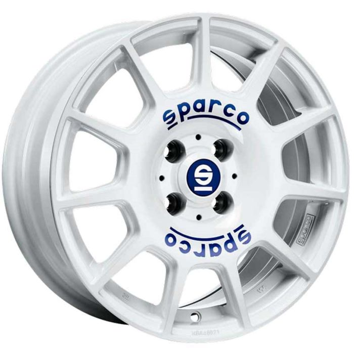 Диск SPARCO Terra 7,0x16 5x112 ET35 d73,1 White Blue Lettering (W29046602G7) dPLY