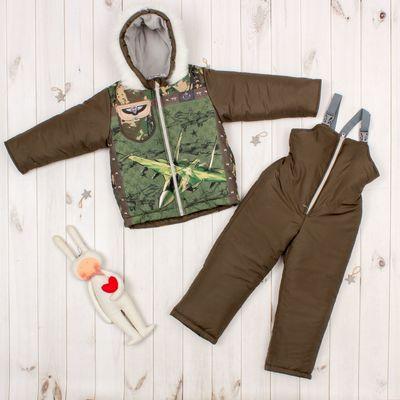 "Комплект: куртка и полукомбинезон KAFTAN ""Милитари"" рост 86-92 (28), 1,5-2 года"