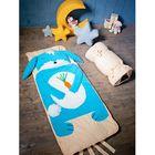 """Спальный мешок """"Зайка"""" на молнии, цвет голубой, размер 60х120 см (S), флис/синтепух/хлопок"""