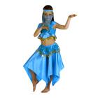 """Карнавальный костюм """"Восточная красавица. Лейла"""", повязка, топ, юбка, цвет голубой, р-р 34, рост 134 см"""