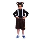 """Карнавальный костюм """"Медвежонок"""", шапка, жилет, штаны, р-р 32, рост 122-128 см"""