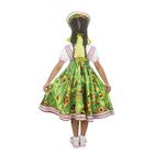 """Русский народный костюм """"Хохлома"""", платье, кокошник, цвет зелёный, р-р 32, рост 122-128 см - фото 105521667"""