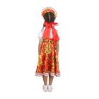 """Русский народный костюм """"Хохлома"""", платье, кокошник, цвет красный, р-р 32, рост 122-128 см - фото 105521561"""