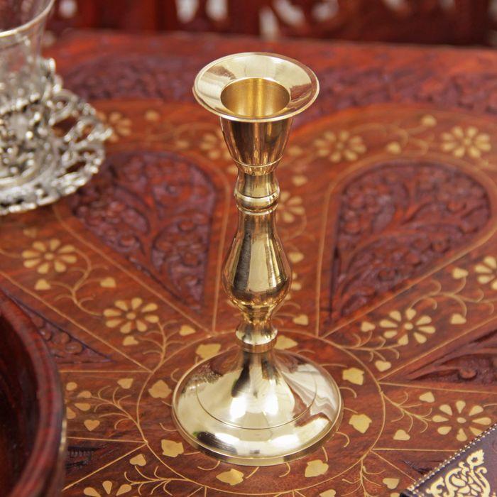 "Подсвечник латунь на 1 свечу ""Талия"" 13х6х6 см"