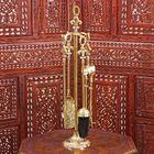 "Fireplace set brass ""Royal"" (5 items) 57,5х13х13 cm"