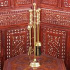 """Fireplace set brass """"Imperial"""" (5 items) 48х11х11 cm"""