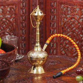 "Souvenir brass hookah 1 pipe ""Hami"" 20 cm"