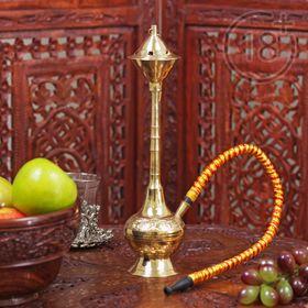 """Souvenir brass hookah 1 pipe """"AMI"""" 24.5 cm"""