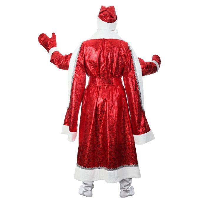 """Карнавальный костюм """"Дед Мороз"""", парча, р-р 52-54, рост 183 см, цвет красный"""
